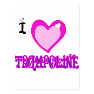 I LOVE Trampoline Postcard