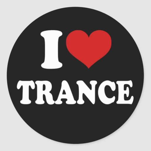 I Love Trance Classic Round Sticker