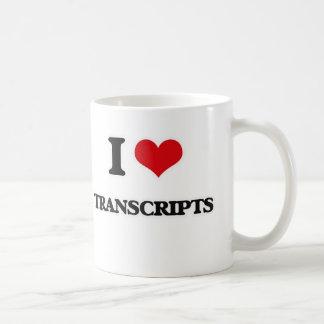 I Love Transcripts Coffee Mug