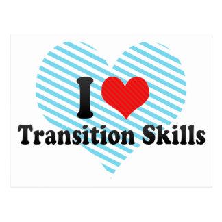 I Love Transition Skills Post Card