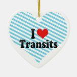 I Love Transits Christmas Tree Ornaments