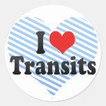 I Love Transits Round Sticker
