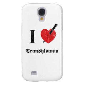 I love Transylvania (black eroded Font) Samsung Galaxy S4 Cases