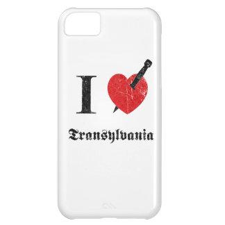 I love Transylvania (black eroded Font) iPhone 5C Cases