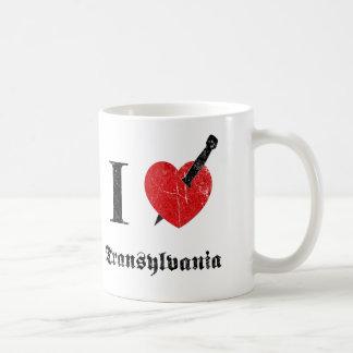 I love Transylvania (black eroded Font) Classic White Coffee Mug