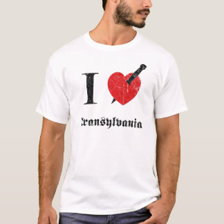 I love Transylvania (black eroded Font) T-Shirt