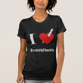 I love Transylvania (white eroded Font) T-Shirt