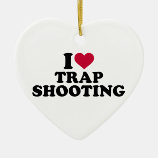 I love trap shooting ceramic ornament