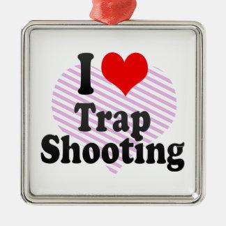 I love Trap Shooting Ornament