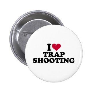 I love trap shooting pinback button