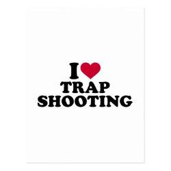 I love trap shooting postcard