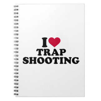 I love trap shooting spiral notebook