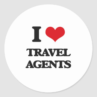 I love Travel Agents Sticker