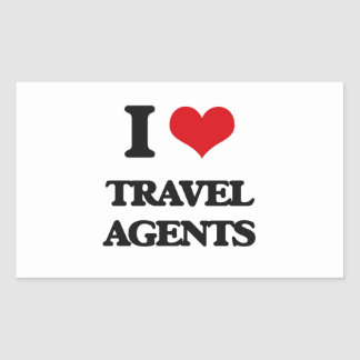 I love Travel Agents Rectangle Stickers