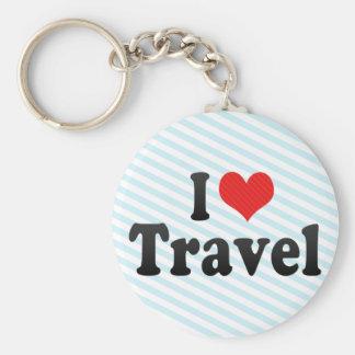 I Love Travel Keychain