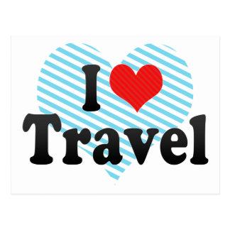 I Love Travel Postcard