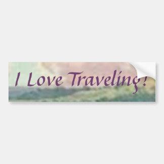 I Love Traveling! Bumper Sticker