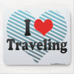 I Love Traveling Mouse Pad