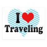 I Love Traveling Postcard