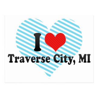 I Love Traverse City, MI Postcard