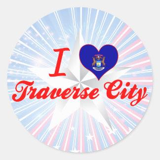 I Love Traverse City, Michigan Sticker