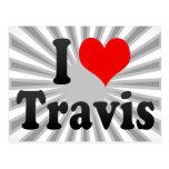 I love Travis Postcard