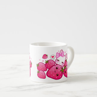 I love trawberries espresso cup