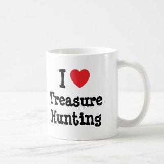 I love Treasure Hunting heart custom personalized Mugs