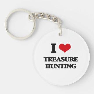 I love Treasure Hunting Single-Sided Round Acrylic Keychain