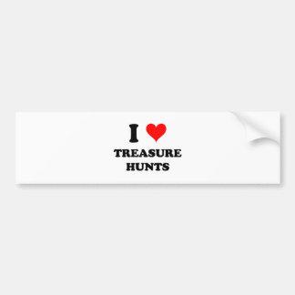 I Love Treasure Hunts Bumper Sticker