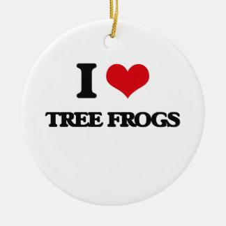 I love Tree Frogs Christmas Tree Ornament