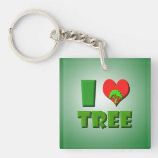 I Love Tree Keychain