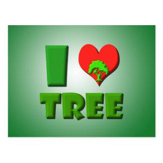 I Love Tree Postcard