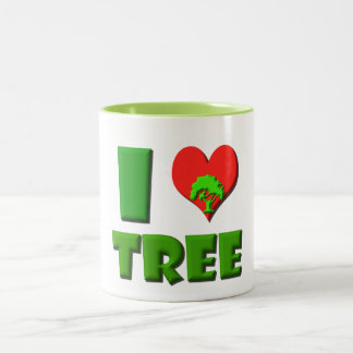 I Love Tree Two-Tone Coffee Mug