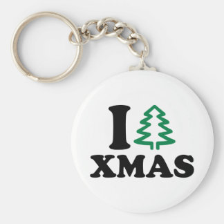 I love tree Xmas Keychains