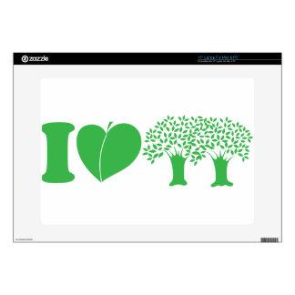 "I Love Trees 15"" Laptop Skins"