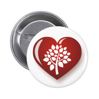 I Love Trees 2 Inch Round Button