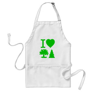 I Love Trees Adult Apron