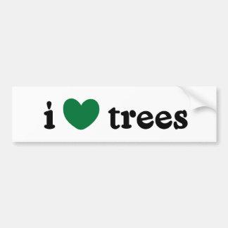 I Love Trees Bumper Sticker Car Bumper Sticker