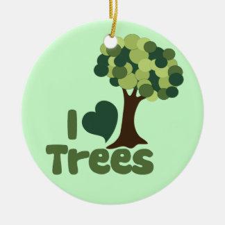 I love trees ceramic ornament
