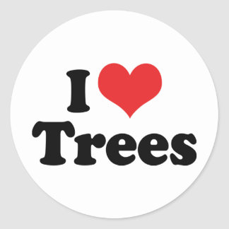 I Love Trees Classic Round Sticker