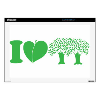 I Love Trees Decals For Laptops