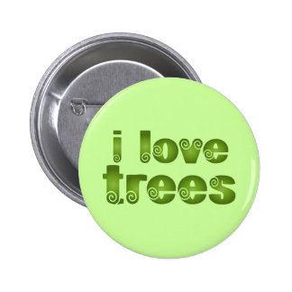 I Love Trees Gift T-shirts Button