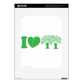 I Love Trees iPad 3 Skin