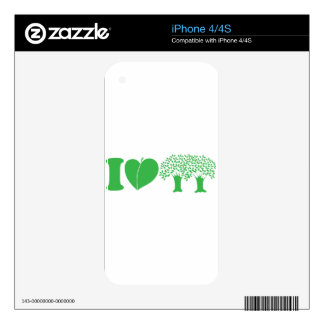 I Love Trees iPhone 4S Decals