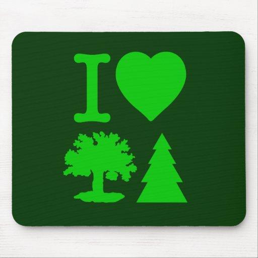 I Love Trees Mouse Pad