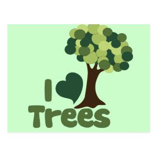 I love trees postcard