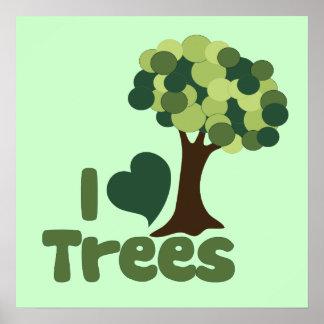 I love trees poster