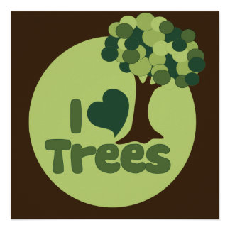 I Love Trees Posters