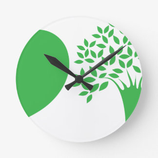 I Love Trees Round Clock